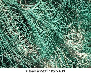 detail of fishing net