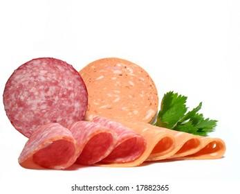 Detail fresh salamis kind