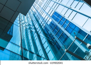 detail glass building background
