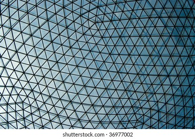 detail of a glass dome