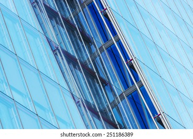 Detail of glass modern office building