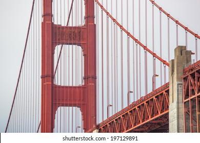 Detail of Golden Gate Bridge, San Francisco