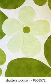 Detail of green carpet