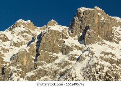 detail of the group of the brenta dolomites