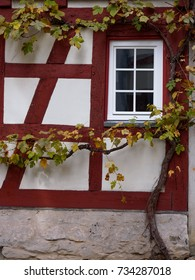 Detail of a half-timbered house
