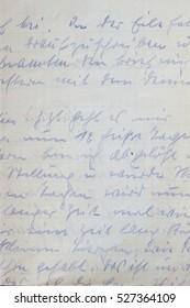 detail of a handwritten letter