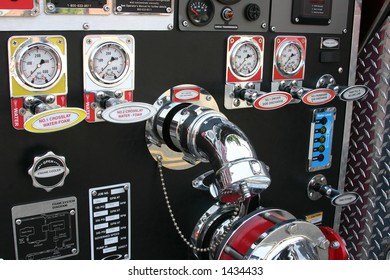 detail of hardware from a fire truck