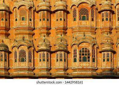 Detail from Hawa Mahal in Jaipur, India