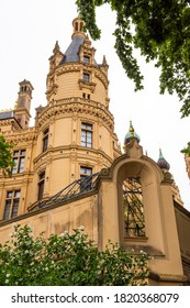 Detail of historic Schwerin Castle, in Schwerin Germany