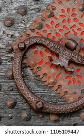 Detail of historical building's beautiful entrance gate in Dubrovnik, Croatia
