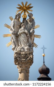 Detail of Holy Trinity Statue, Trnava, Slovakia