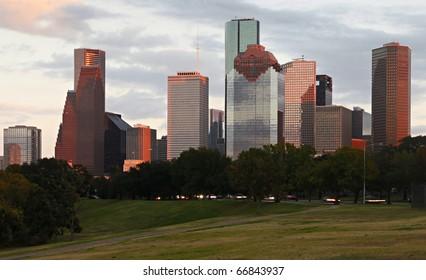 Detail of Houston Skyline