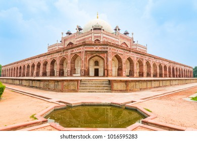 Detail of Humayun's Tomb in New Delhi in India