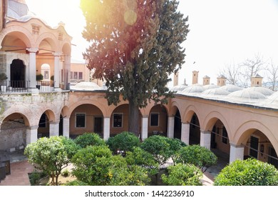 Detail from the Imaret of Muhammad Ali Pasha, built in 1817, now open as a touristic hotel, famous landmark of Kavala, Greece.