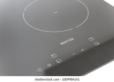 Detail of an induction cooktop stove