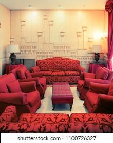 Detail of interior in classic Italian hotel