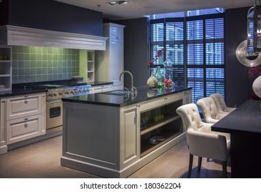 detail of interior of  kitchen in modern style