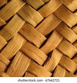 Detail of interlaced rattan fibers
