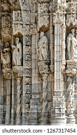 Detail of Jeronimos monastery in Lisbon, Portugal