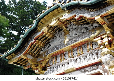 Detail of Karamon of Nikko Toshogu,Nikko, It is a Shinto shrine located in Nikko, Tochigi Prefecture. It is National Treasures of Japan and Important Cultural Properties.