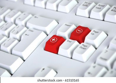 Detail of the keyboard with color key