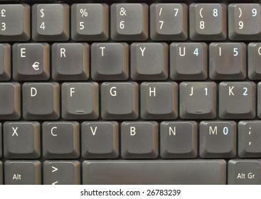 Detail of keys on a computer keyboard