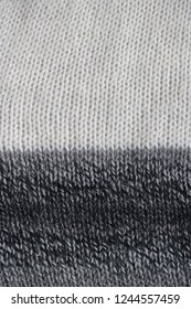 detail of knitted woolen scarf