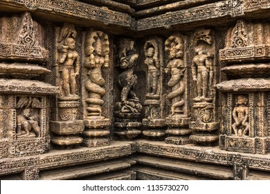 Detail of the Konark Sun Temple, Konark/Odisha/India: