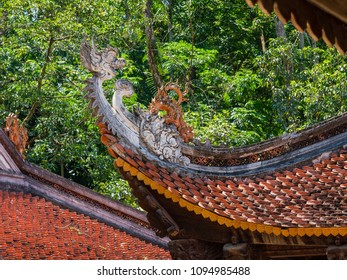Detail of the Lam Kinh temple in Xuan Lam and Lam Son townlet of Tho Xuan district, Thanh Hoa, Vietnam. The temple was built by national hero Le Loi during the early 15th century.