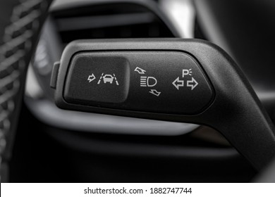Detail of lane keeping assist system switch button