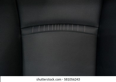 Detail of leather car seat.