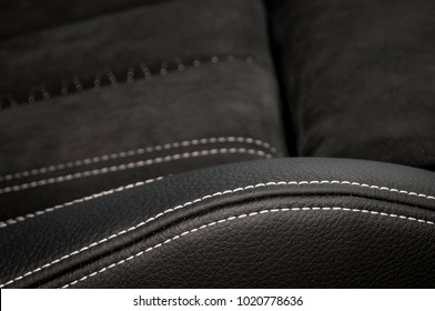 Detail of leather car seat texture.