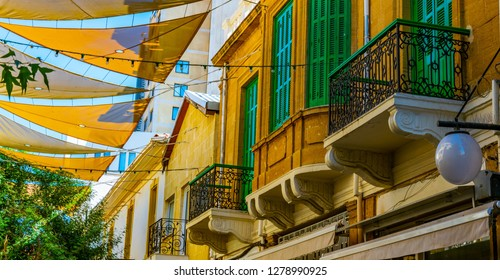 Detail of Ledra street - the main shopping avenue of Nicosia, Cyprus