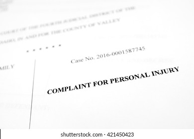 Detail of legal papers Complaint for Personal Injury pleadings lawyer