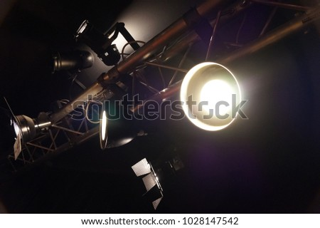 Detail Light Ramp Night Nice Background Stock Photo (Edit
