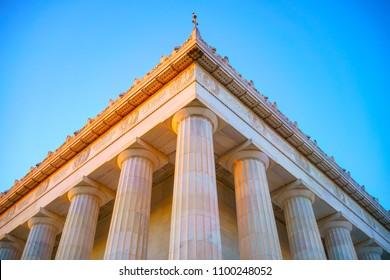Detail of Lincoln Memorial, Washington DC