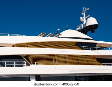 detail of a luxury yacht