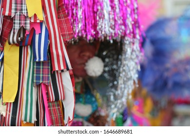 Detail of Maracatu costume at the Carnival of Recife