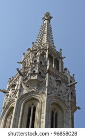 Detail of the Matthias Church at Buda Castle in Budapest, Hungary, Europe