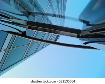 Detail of metal and glass construction, Burj Khalifa, Downtown Dubai