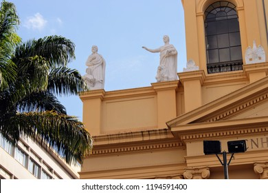 Detail of Metropolitan Cathedral (Our Lady of Conception) in Campinas, Brazil