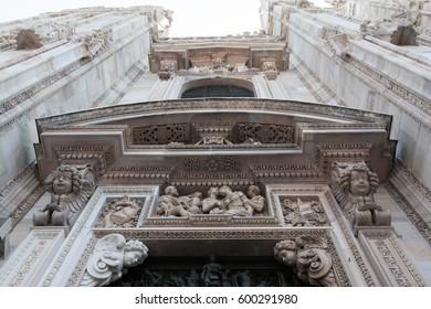 Detail of Milan cathedral