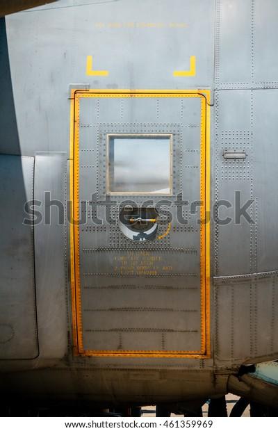 Detail of Military aircraft door