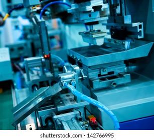 detail of a modern CNC machine