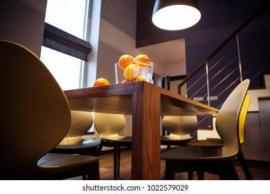 Detail of a modern interior - dining table