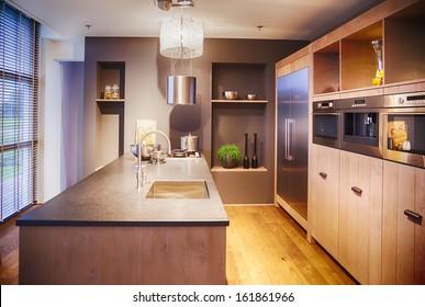 detail of modern kitchen