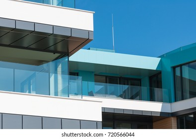 Detail of a modern luxury apartment by the sea