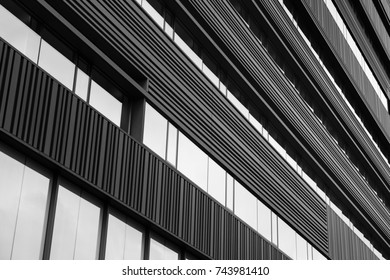 Detail of a modern office building