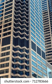 Detail of Modern Skyscrapers in Chicago, Illinois, USA
