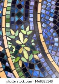 Detail of a mosaic tile pattern